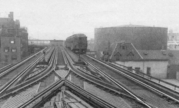 Elevated train and tank